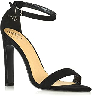 Womens High Heel Sandals Ladies Barely There Buckle Ankle Strap Shoes