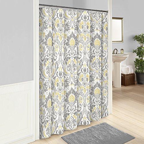 "MARBLE HILL Shower Curtains for Bathroom - Rayna 72"" x 72"" Machine Washable Bath Curtains, Gray"