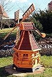 Große Windmühle mit Windschwert und Solar Typ 20