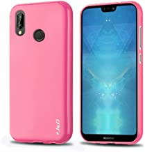 J&D Case Compatible for Huawei P20 Lite Case, [Drop Protection] [Slim Cushion] Shock Resistant Protective TPU Slim Case for Huawei P20 Lite Bumper Case - [NOT for Huawei P20 / Huawei P20 Pro] - Pink