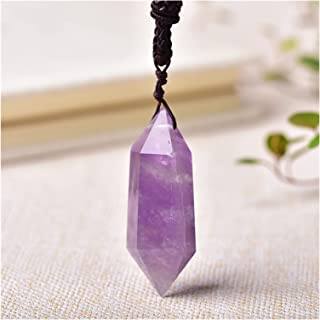 Natural stone pendant Natural Crystal Pendant Jewelry Clear Quartz Healing Stone Point Souvenir For Men Women Jewelry Gift...
