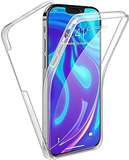 Reshias Funda para iPhone 12 Mini, 360°Full Body Protección Suave TPU Silicona Delantero PC Dura Atrás Transparente Flip P...