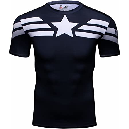 Cody Lundin® Hombres Deporte Apretado Camisa Película Captain ...