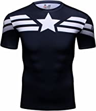 Cody Lundin® Hombres Deporte Apretado Camisa Película Captain héroe Formación Rutina de Ejercicio Capas Base Camiseta
