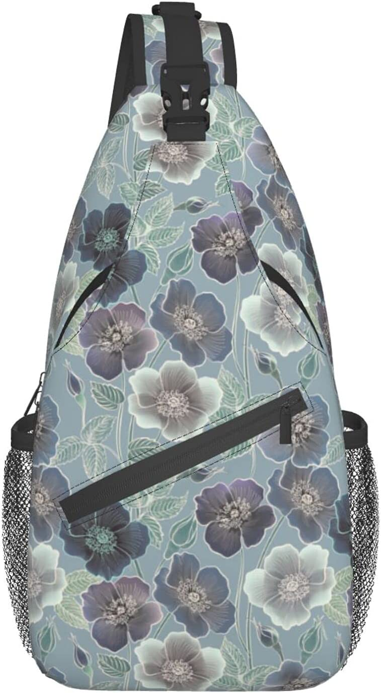 Flowers Special sale item Genuine Free Shipping Crossbody Sling Backpack Travel Hiking Ba Chest Shoulder