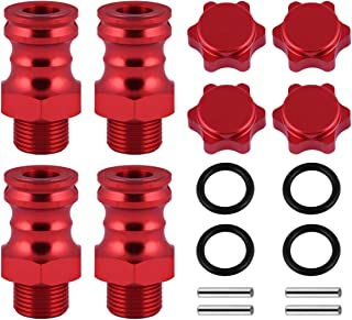 Replacement Accessories Lengthened 17mm Turn 23mm Wheel hubs Drive Hex Wheel Extension Hub for RC Car Vehicle (Red)