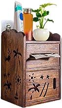 XYZMDJ Houten toiletpapierhouder-houten wandgemonteerde multifunctionele tissuedoos, familie punch badkamer papieren handd...