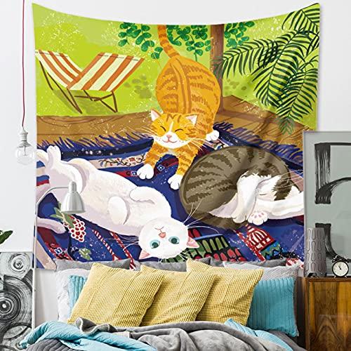 Tienda De Mascotas Para Gatos Tapiz Colgante De Pared Tapices De Pared Hippie Decoración Para Pared Y Habitación Dormitorio Salon Sala De59X79inch(150X200CM)