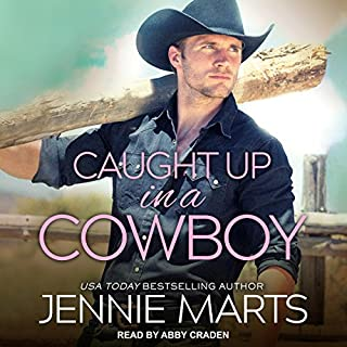 Caught Up in a Cowboy audiobook cover art