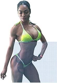 NPC Bikini Competition Suit Neon Yellow w/AB Crystal Rhinestones Bikini Contest Suit