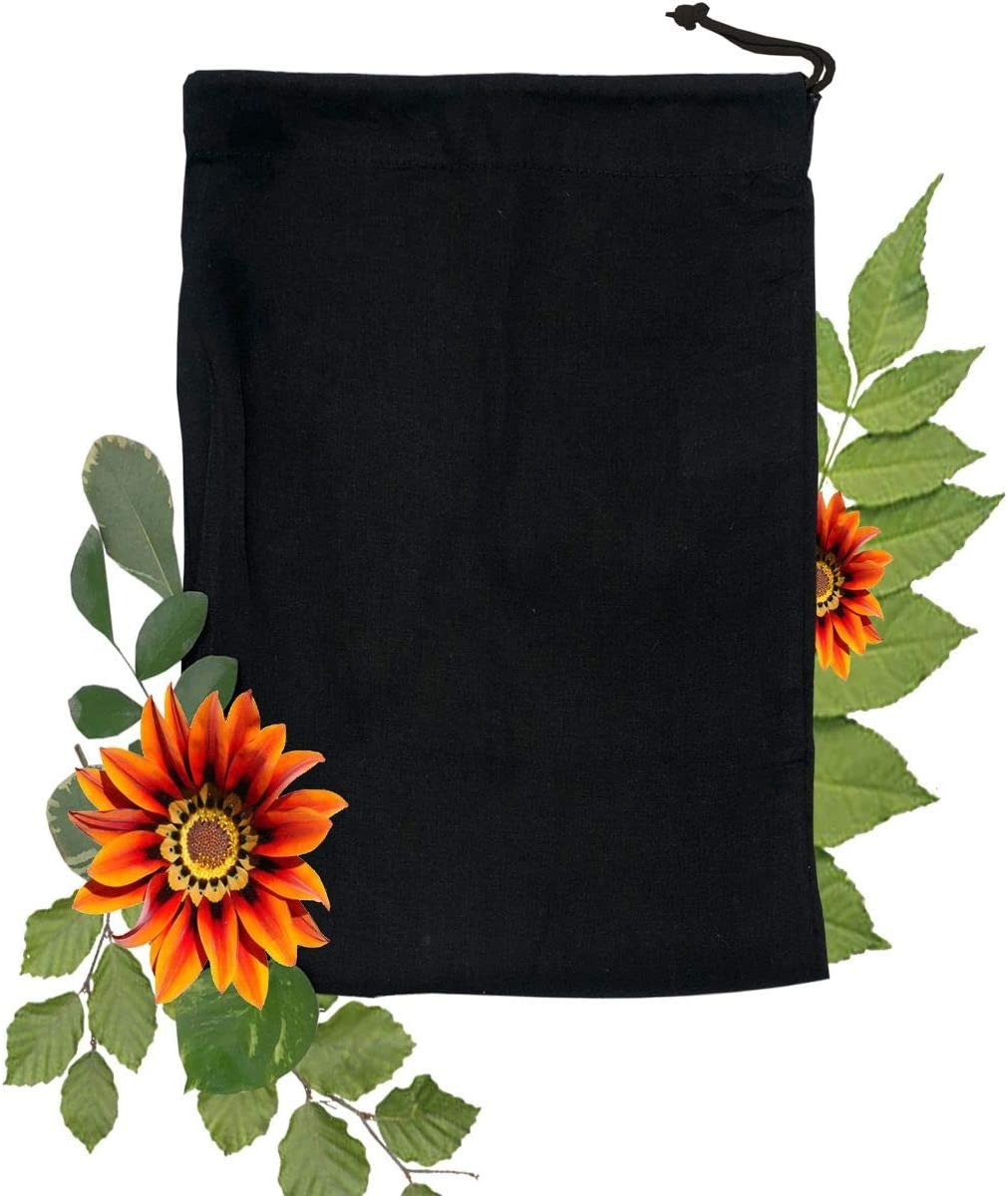10x12 inches Black 新作多数 Cotton Bags Prem Reusable 新作多数 and Biodegradable