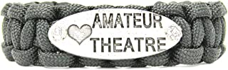 Love Amateur Theatre 550 Paracord Bracelet in Black