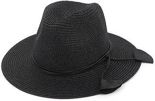 Summer Sun Hat Women Casual Vacation Panama Straw Hat Women Wide Brim Beach Jazz Hats Foldable Chapeau