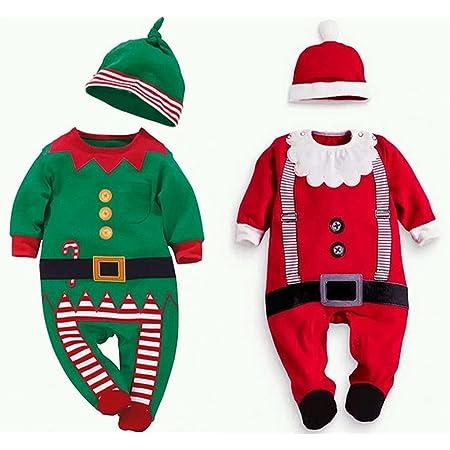 クリスマス 衣装 ロンパース サンタクロース 妖精 コスチューム 子供 キッズ ベビー 赤ちゃん 男の子 女の子 cos1035 (赤(身長100cm))