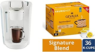 Keurig K-Select Coffee Maker, White and Gevalia Signature Blend Mild Roast Coffee K-Cup Pods, 36 Count