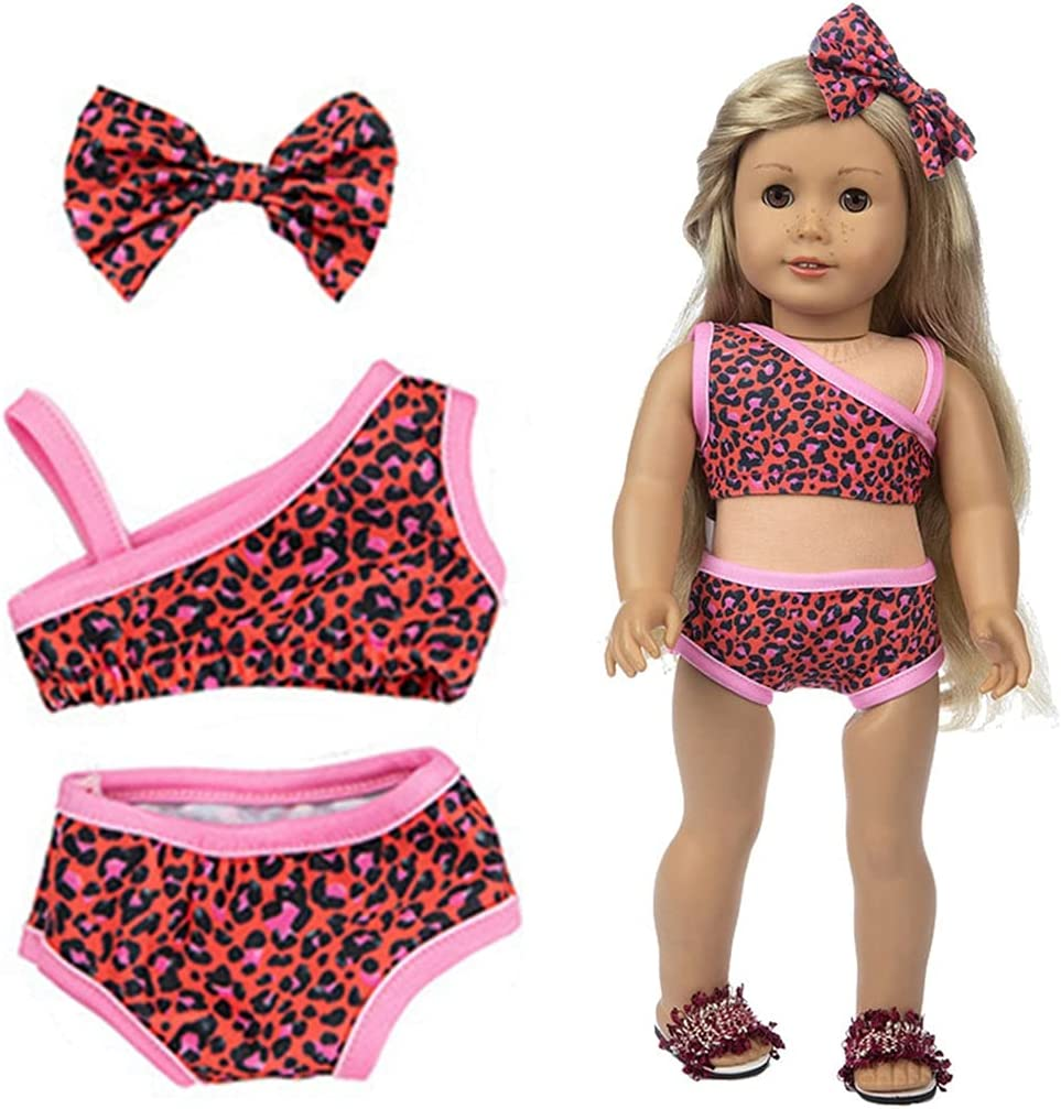 Challenge the lowest price of Japan ☆ Lnrueg Doll Max 83% OFF Swimsuit Set Mini Creative Leopard Print Outfit