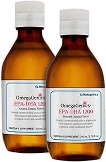 Metagenics OmegaGenics EPA-DHA 1200 Natural Lemon Flavor 40 Servings - TwinPak