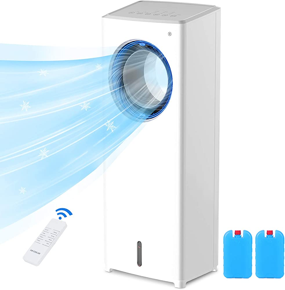 Supalak, raffreddatore d`aria 4 in 1, bassa rumorosità, grande capacità 2l, 3 modalità e 3 velocità
