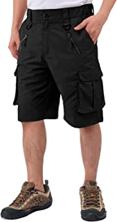 Sponsored Ad - DIKAMEN Cargo Shorts Multi-Pockets Outdoor Shorts,Elastic Waistband Urban Tactical Shorts