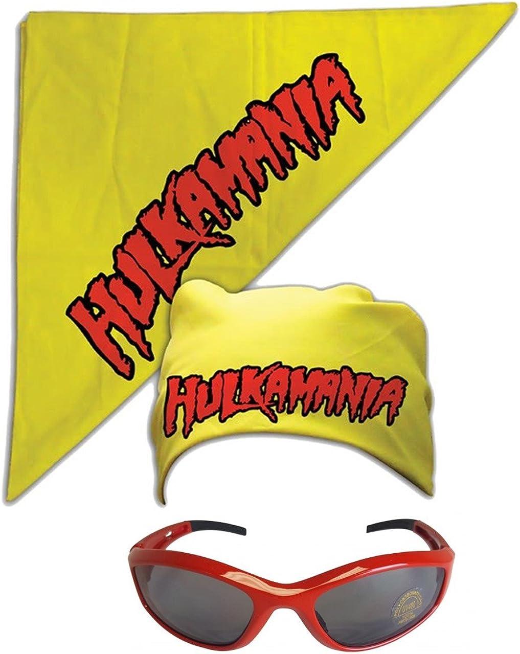 Hulk Hogan Hulkamania Bandana -Yellow-Red Sunglasses Costume Outlet sale feature Large special price !!
