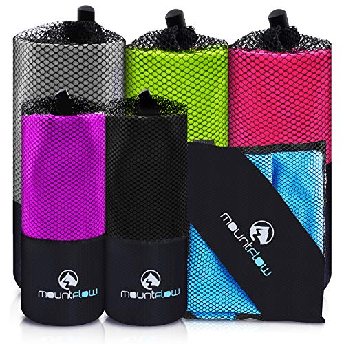 MountFlow Microfiber Travel Towel, Quick Dry Gym Towels for Yoga Outdoor Camping Beach...