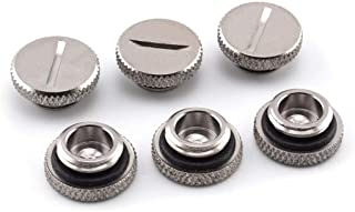 """SDTC Tech 6 Pack G1/4"""" Plug Fitting with O-Ring for PC Water Cooling Systems, Silver"""