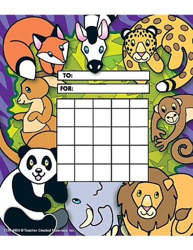 Teacher Created Resources Zoo Animals Incentive Charts (4954)
