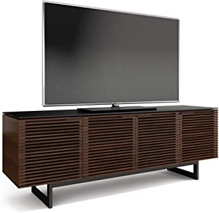 BDI Corridor Quad TV Stand & Media Cabinet, Chocolate Stained Walnut