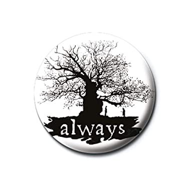 Warner Bros. Genuine Harry Potter Always Silhouette Button Badge Pin Snape Lily