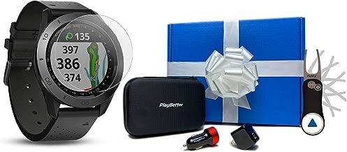 Garmin Approach S60 (Premium) Beat Yesterday Gift Box Bundle   +HD Screen Protectors, Garmin Pitchfix Divot Tool, Car/Wall Adapters & Protective Case   41,000+ Courses, 010-01702-03   Golf GPS Watch