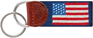 American Flag Key Fob in Navy by Smathers & Branson