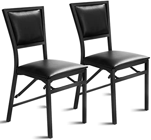 """new arrival Giantex Set of outlet online sale 2 Metal Folding Chair Dining Chairs Home Restaurant Furniture Portable lowest (18"""" X 20"""" X 33.5"""") online sale"""