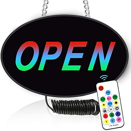 Extra Bright Lightweight /& Energy Efficient SK Depot LED Neon Open Sign Light for Business for Restaurants Offices Retail Shops Window Storefronts 50x25x2.5cm Red-Yellow-Green-Blue