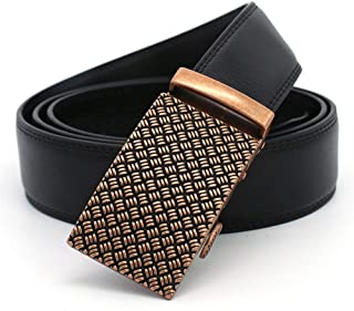 Men Belt Leather Business and Leisure Men's Automatic Buckle Belt (Size : XXL)