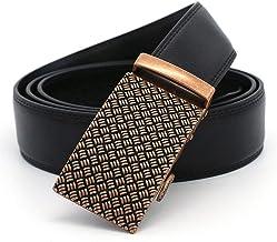 Men Belt Leather Business and Leisure Men's Automatic Buckle Belt Fashion (Size : XXL)