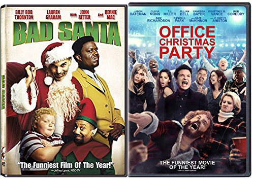 Working Christmas - Bad Santa Holiday DVD Bundle Office Christmas Party Double Feature Comedy Movie Set