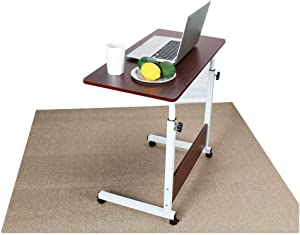 Giveyo Home Can Be Raised and Lowered Mobile Computer Desk 80cm50cm Red Home liftable Mobile Computer Desk
