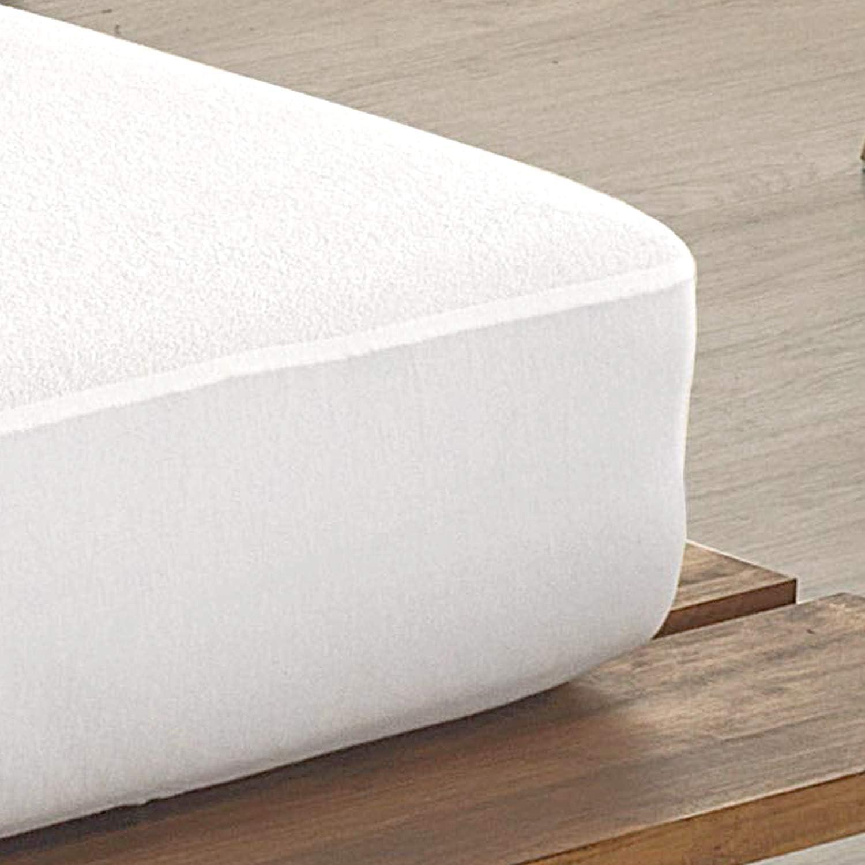 Todocama - Protector de colchón, de Rizo, Ajustable, 100% Impermeable con Tratamiento antiácaros, Fabricado con algodón biorgánico. (Cama 105 x ...