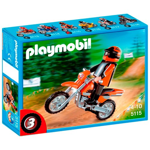 PLAYMOBIL - Moto de Motocross 5115