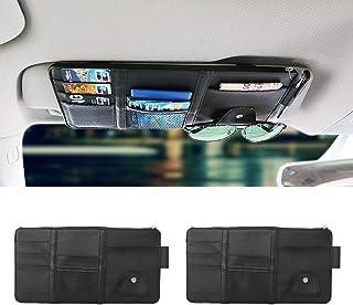 Lot de 2 pochettes pour voiture Organisateur pour portefeuille carte et lunettes t/él/éphone