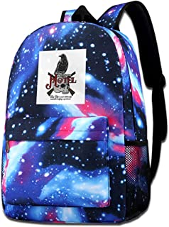 Galaxy Printed Shoulders Bag Raven Hotel Altered Carbon Fashion Casual Star Sky Backpack For Boys&girls