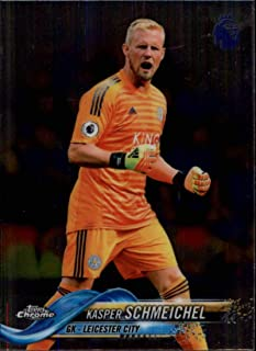2018-19 Topps Chrome Premier League #42 Kasper Schmeichel Leicester City Soccer Trading Card