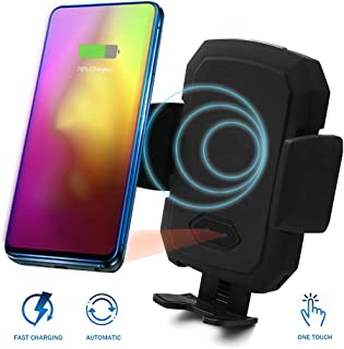 Acumen Wireless Car Charger Mount with Infrared Sensor Automatic Clamping Phone Holder Air Vent Mount Compatible with S9/S8 Note 8/9 X/Xs/Xs Max/8 and More Smart Phone Car Charger Include (B1ack)
