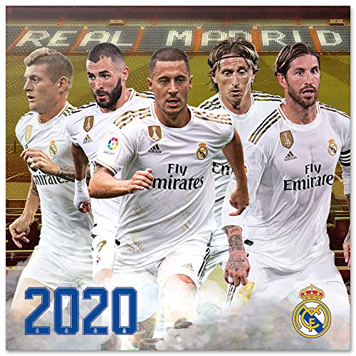 ERIK - Calendario de pared 2020 Real Madrid, 30 x 30 cm