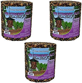Pine Tree Farms Fruit Berry Nut Classic Seed Log, 32-Ounce (Pack of 3)