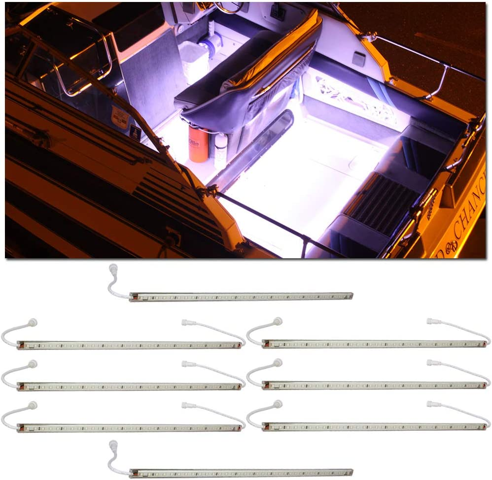 LEDGlow Ranking integrated 1st place 8pc White LED Boat Trust Marine Under Cabin Acce Deck Gunnel