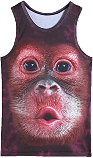 ZUEVI Printed Sleeveless Graphics Monkey L
