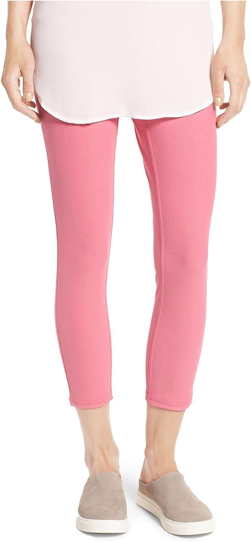 Hue Womens Original Denim Capri Leggings Pink Lemonade XSmall 02