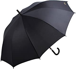 JXXDDQ Folding Windproof Semi-Automatic One-Click Opening Reinforcement Business Men Double Umbrella Black