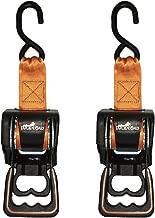 Lock N Load BK202 Black 6' Webbing Length Retractable Ratchet Tie Down, 2 Pack